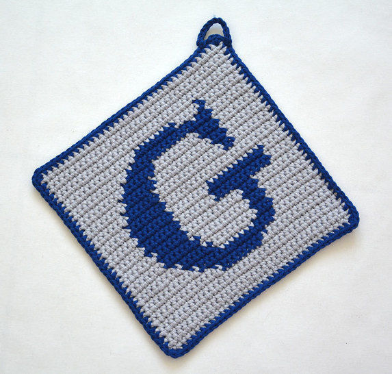 Letter G Potholder Crochet Pattern For Beginners