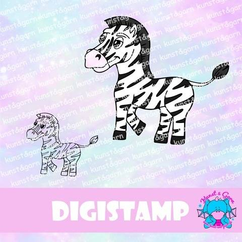 DigiStamp Zebra stehend bei Makerist sofort runterladen