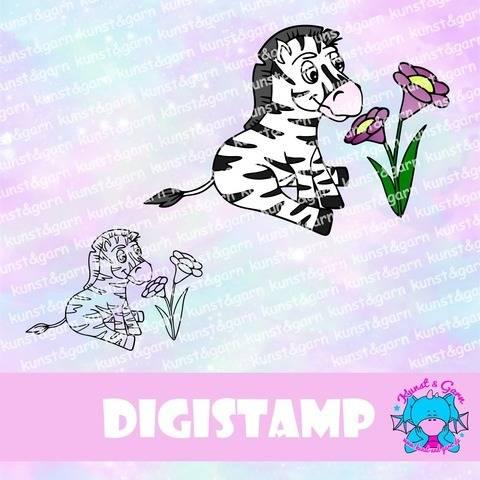 DigiStamp Zebra sitzend bei Makerist sofort runterladen