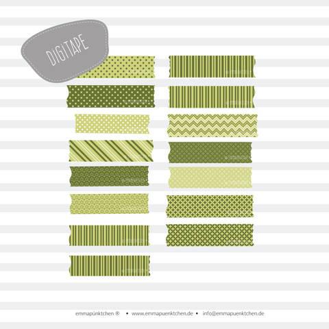 emmapünktchen ® – DigiTape grün bei Makerist sofort runterladen