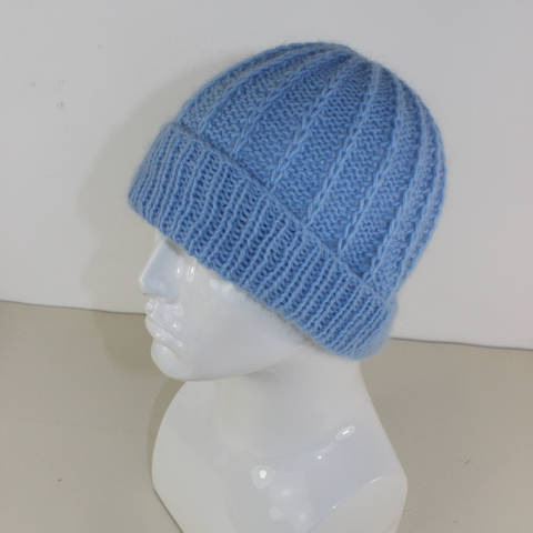 Download Fluffy Fishermans Rib Beanie Hat immediately at Makerist