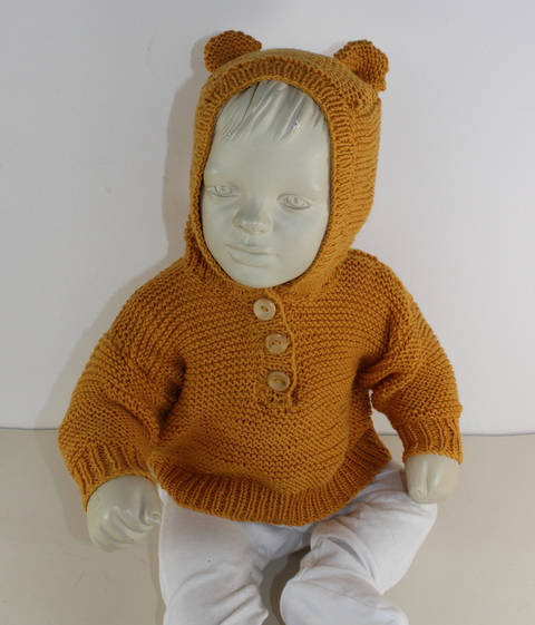 Download Baby Teddy Bear Hoodie immediately at Makerist