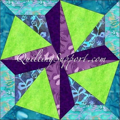Download Crazy Spin 15 Inch Template Quilting Block Pattern immediately at Makerist