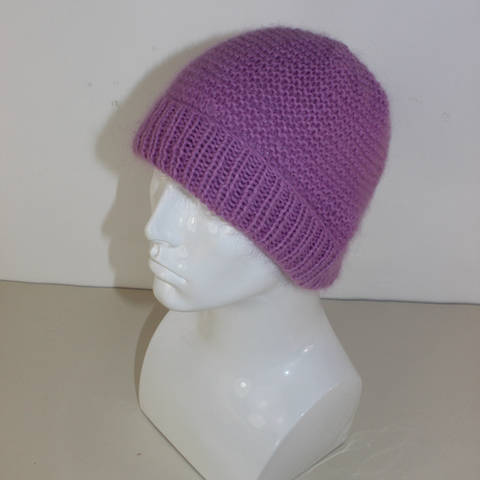 Download Fluffy Garter Stitch Beanie Hat immediately at Makerist