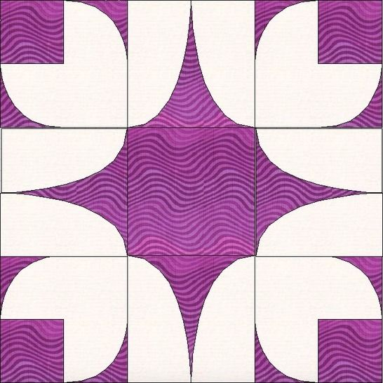 Download Bleeding Heart 15 Inch Template Quilting Block Pattern immediately at Makerist
