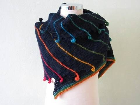 Download Shawl Rainbowdroplet Knitting Pattern  immediately at Makerist