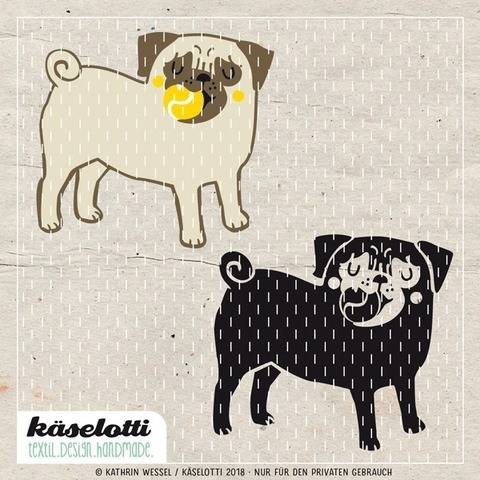 cutting file pug with ball at Makerist