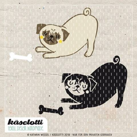 cutting file pug with bone at Makerist