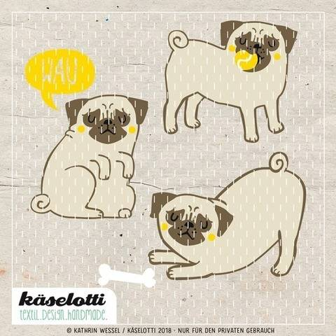 cutting file set pugs at Makerist