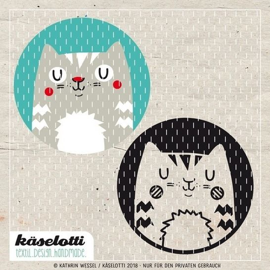 Download cutting file bubble cat immediately at Makerist