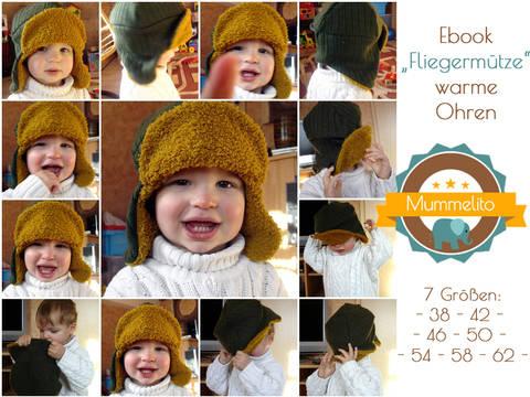 Fliegermütze Wintermütze Mütze Babymütze Kindermütze warme Ohren Ebook Nähanleitung und Schnittmuster bei Makerist sofort runterladen