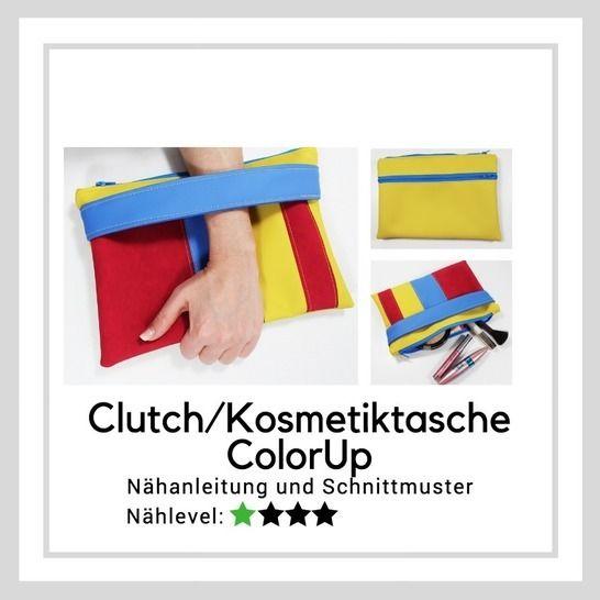 Ebook Clutch/Kosmetiktasche ColorUp (zwei Größen) bei Makerist sofort runterladen