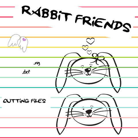 Download plotting cutting file RABBIT FRIENDS dxf svg Engelinchen immediately at Makerist
