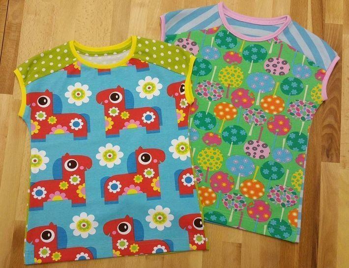 "Ebook ""Easy-Peasy T"", Shirt & Kleid in Gr.86 - 158 - Nähanleitungen bei Makerist sofort runterladen"