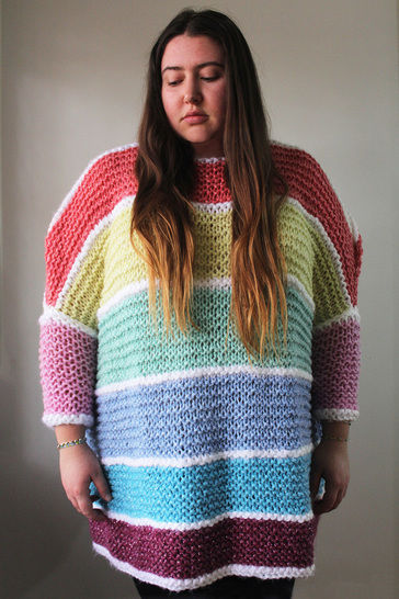 Download Knitted Candy Jumper - Knitting Pattern immediately at Makerist