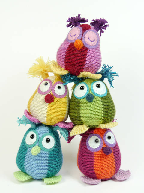 Download Mini Owls, Stash Gobblers #03, knitting pattern immediately at Makerist