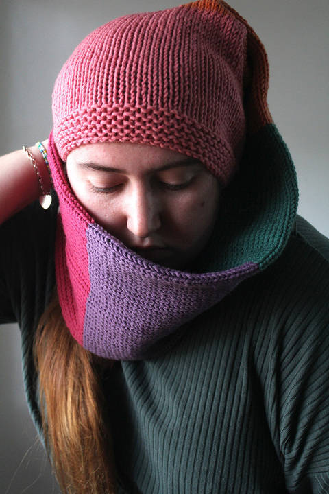 Download Knitted Beanie Scarf - Knitting Pattern immediately at Makerist
