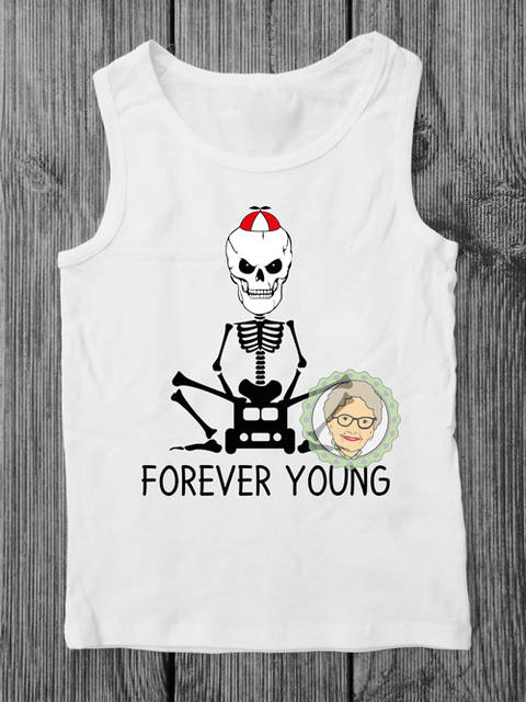 "Download cutting file Skalle ""Forever Young"" - multicolor cool skeleton plot file, especially for men and boys - with manual immediately at Makerist"