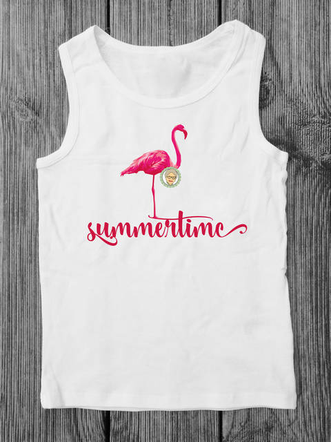 "Download Cutting file summertime - multicolored flamingo plot file with statement ""Summertime"", with manual immediately at Makerist"