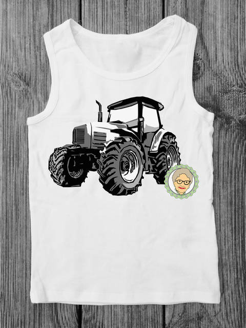 Download Cutting file tractor - multicolored cool toeing vehicle, with manual immediately at Makerist