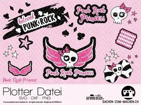 "Download cutting file ""Punk Rock Princess"" - ALPWIND ®  immediately at Makerist"