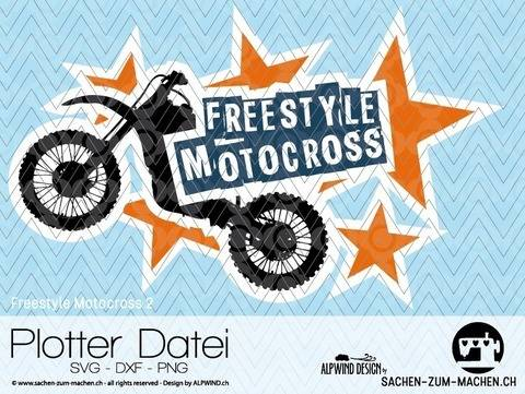 "Download cutting file ""Freestyle Motocross #2"" - ALPWIND ® immediately at Makerist"