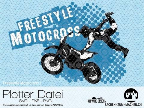 "Download cutting file ""Freestyle Motocross #1"" - ALPWIND ® immediately at Makerist"