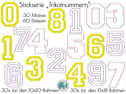 Trikotnummer Zahlen Stickserie Nummern Stickdatei Doodle Sport Jungs Männer Boys Girls Sporty Geburtstag bei Makerist sofort runterladen