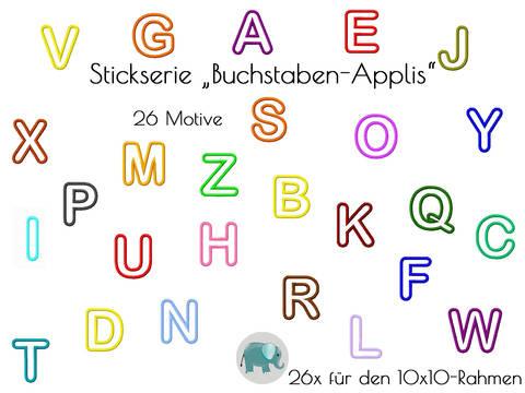 ABC Appli Stickdatei Buchstaben Alphabet Applikation ABC Schrift Appli Geburtstag Namensshirt Namenskissen bei Makerist sofort runterladen