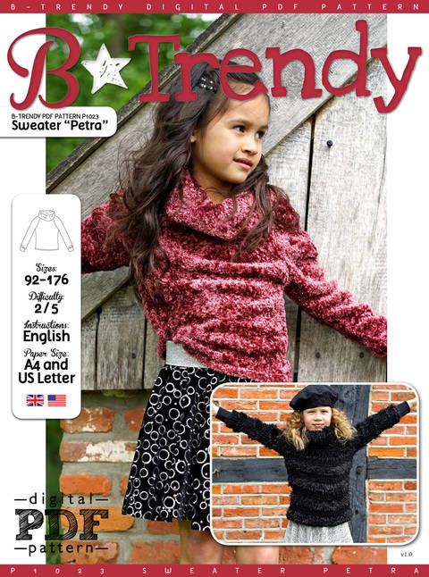 Download Sweater PETRA PDF Pattern + Tutorial immediately at Makerist