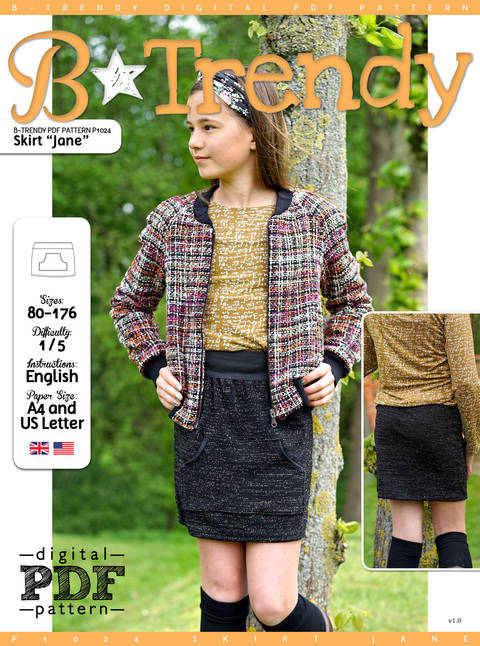Download Skirt JANE PDF Pattern + Tutorial immediately at Makerist
