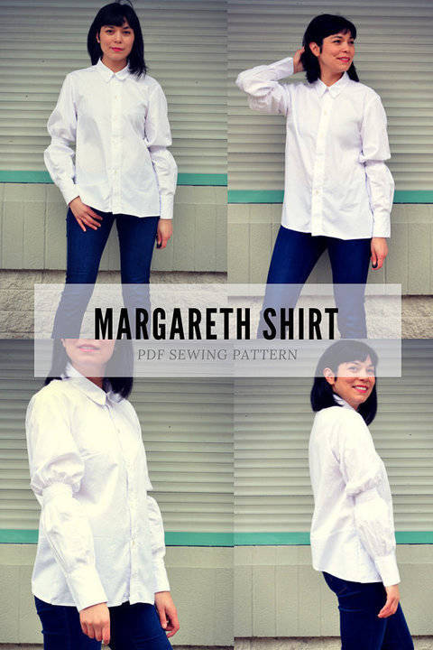 Download The Margareth Shirt PDF sewing pattern and sewing tutorial immediately at Makerist