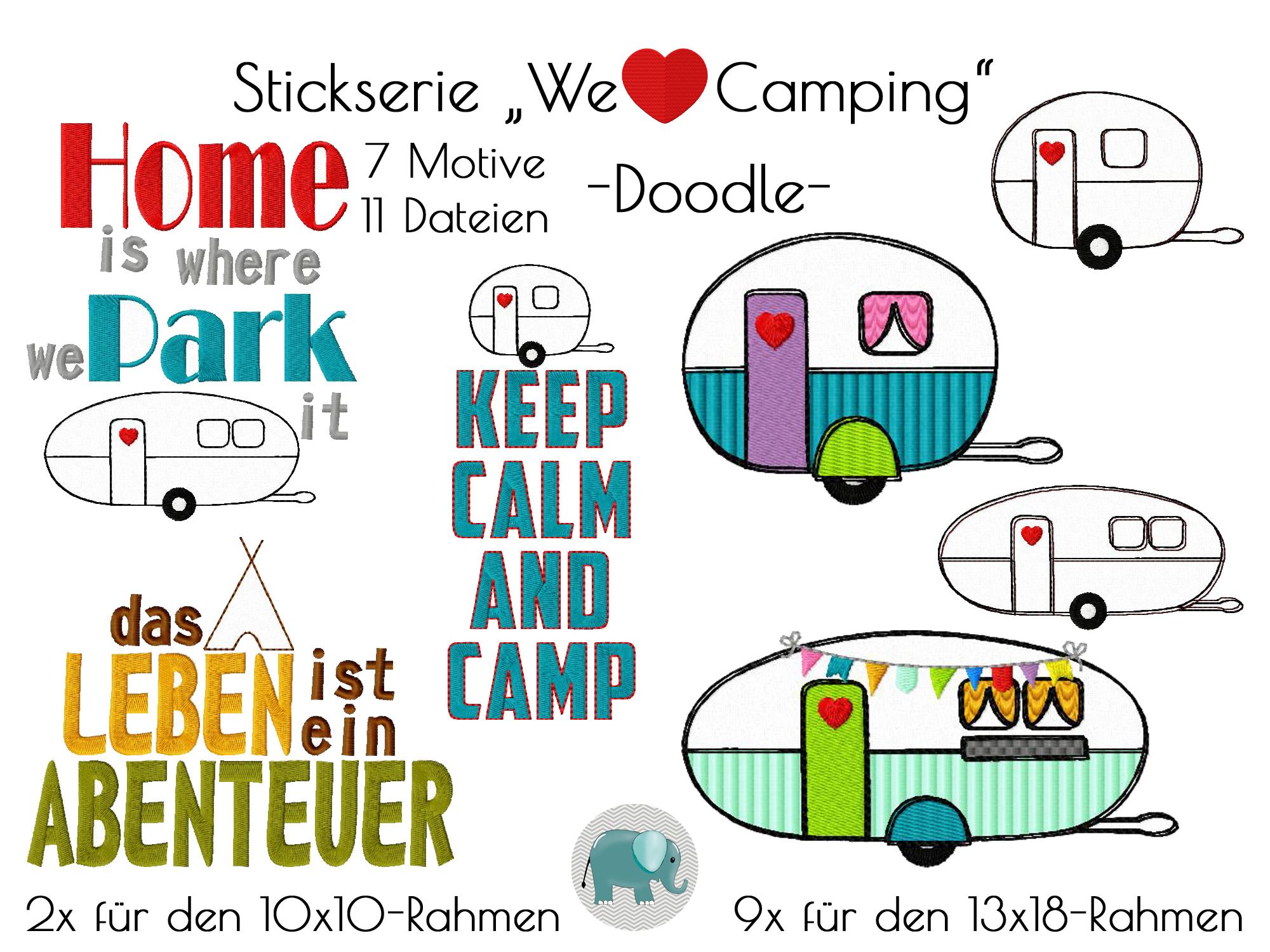 We love Camping Stickserie Wohnwagen Wohnmobil Zelt zelten Camp ...
