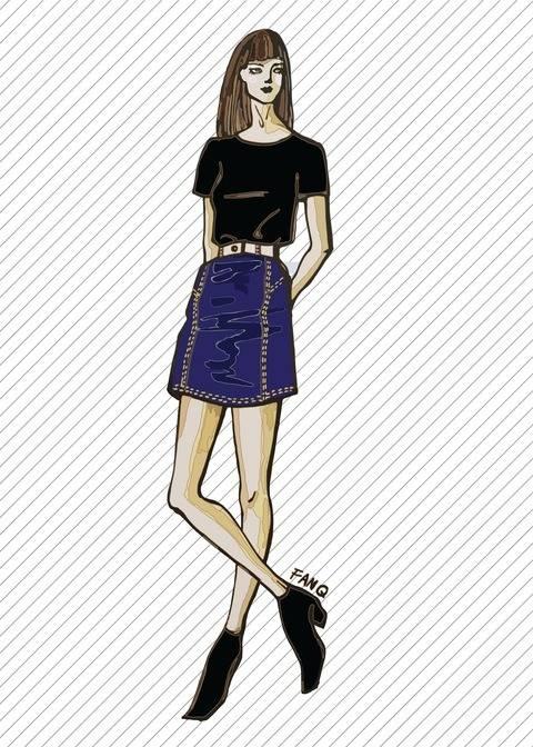 Télécharger Jupe en jean SK709 - Patron de couture tout de suite sur Makerist