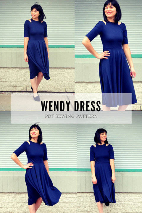 Download The Wendy Dress PDF sewing pattern and sewing tutorial immediately at Makerist