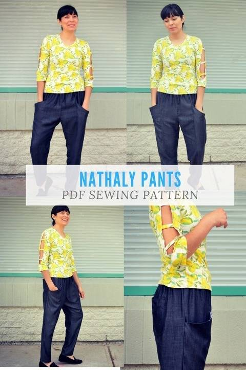 Download Nathaly Pants Pattern immediately at Makerist
