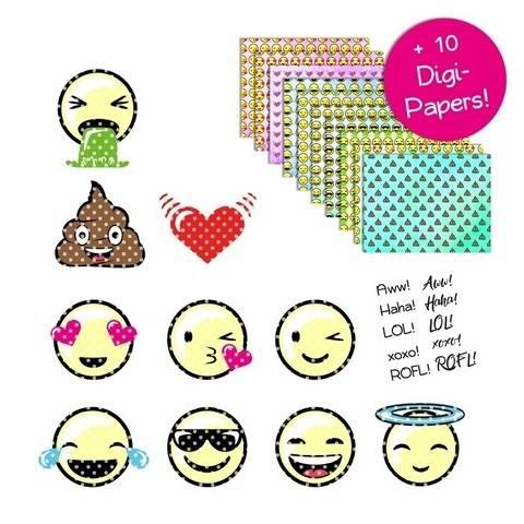 "Plotterdatei ""Emoticons Runde 1"" bei Makerist sofort runterladen"