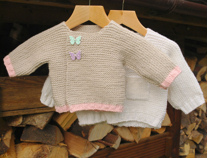 Download Easy baby cardigan immediately at Makerist