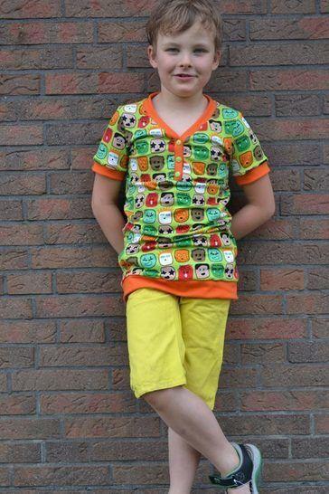 """Wandelbares Jungen Shirt """"SoSevenBoys"""" Nähanleitung und Schnittmuster - Nähanleitungen bei Makerist sofort runterladen"""