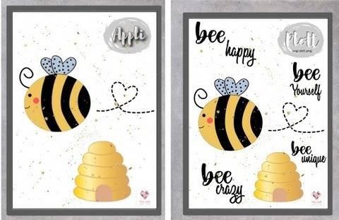 """Appli-Vorlage+ Plottdesign """"Biene bee happy"""" bei Makerist sofort runterladen"""