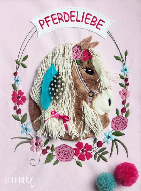 Stickdatei Boho - Pony Lulu 18x30 Doodle bei Makerist sofort runterladen