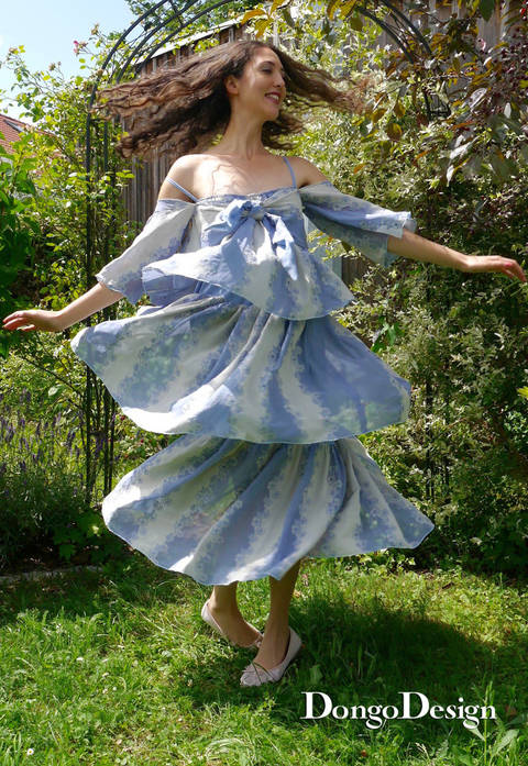 Download PDF sewing pattern summer dress Paris79 PDF File with E-Book Sewing instructions immediately at Makerist
