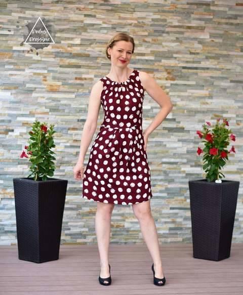 Damenkleid HILDE - Schnittmuster für Webware bei Makerist sofort runterladen