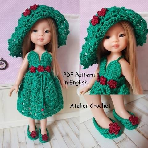 "Download ""The Queen of Flowers"" crochet pattern for Paola Reina Doll or Chérie Corolle immediately at Makerist"