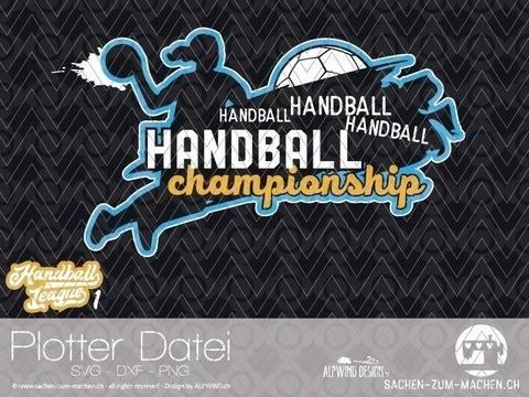 "Plotter-Datei ""Handball League"" #1 bei Makerist sofort runterladen"