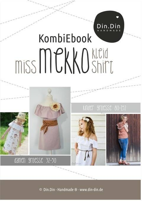 Kombi-Ebook Miss Mekko Kleid, Shirt, Tunika Off-Shoulder Boho Hippi bei Makerist sofort runterladen