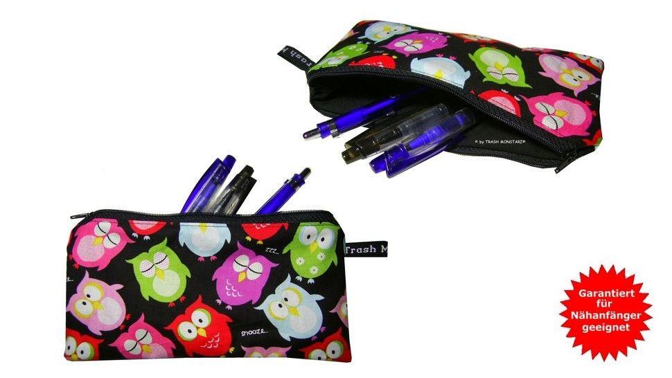 Tasche nähen, Stiftemäppchen - Nähanleitung - Nähanleitungen bei Makerist sofort runterladen