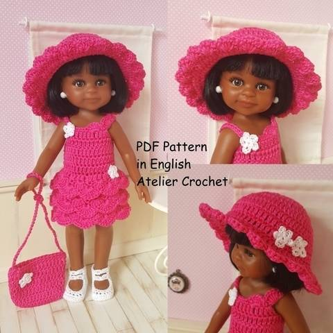 "Download ""Bérénice"" crochet pattern for Paola Reina Doll immediately at Makerist"