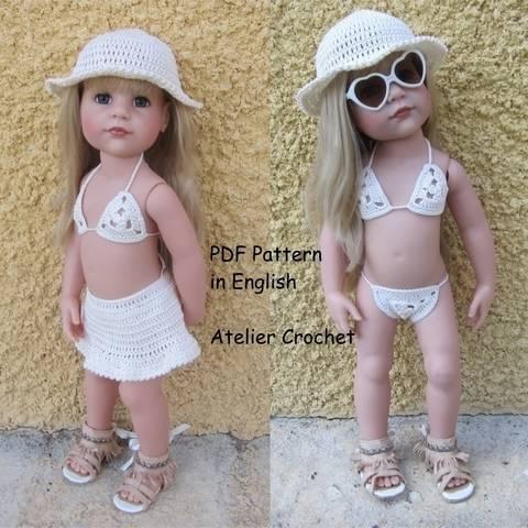 """""""Beachwear"""" Set für Hannah Götz Puppe bei Makerist sofort runterladen"""