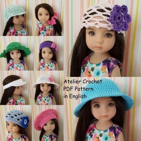 """""""Hats"""" für 32-34cm Puppe bei Makerist sofort runterladen"""